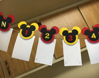 Mickey Mouse Picture Age Banner!