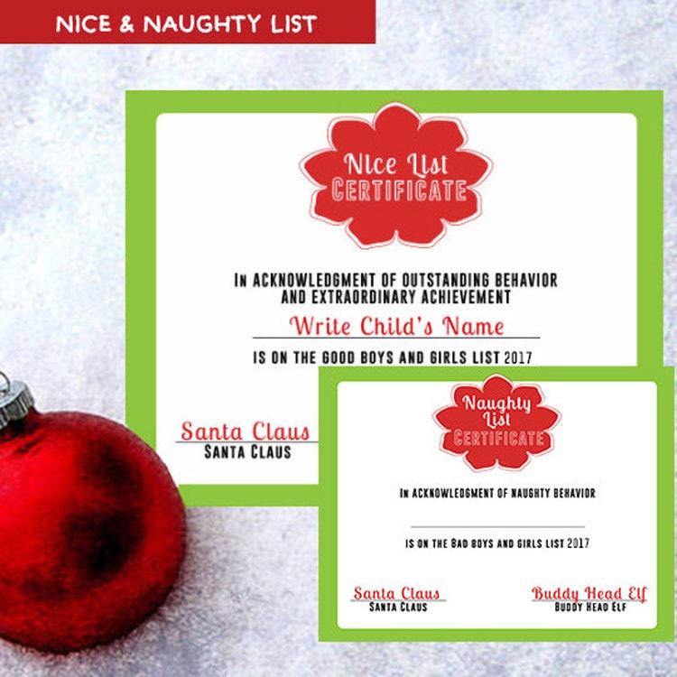 christmassanta letter from santa nice list naughty list