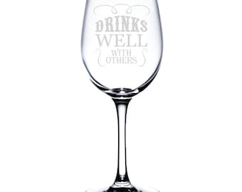 Standard Wine Glass-12 oz.-6767 Drinks Well With Others