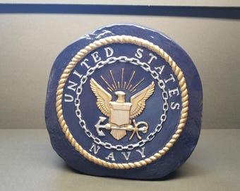 Navy Stand Alone Decorative Stone