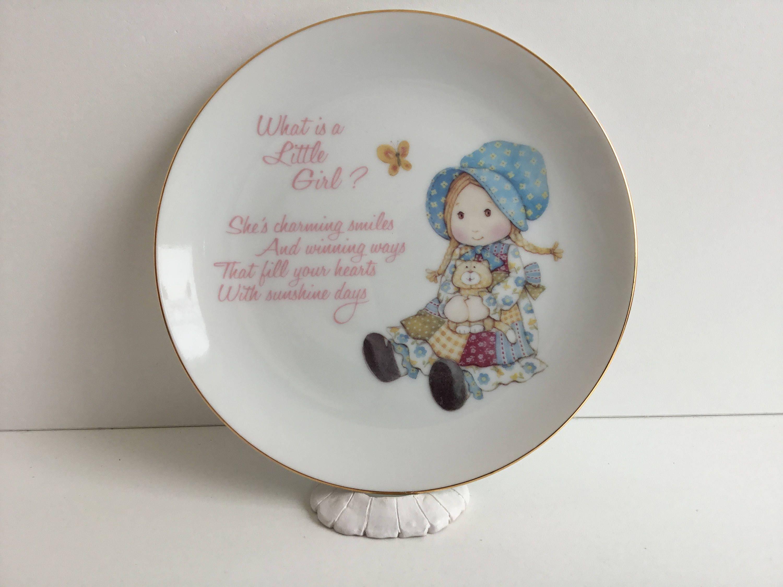 Vintage holly hobbie porcelain collector plate zoom reviewsmspy