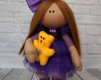 Textile doll for interior