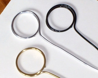 15 wedding place card holders Circle Wire  CHOOSE 2 to 12 inch height