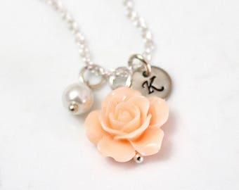 Flower girl necklace Kids Wedding Jewelry Childrens