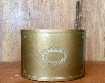 Vintage Gold Faux Leather Mail Caddy