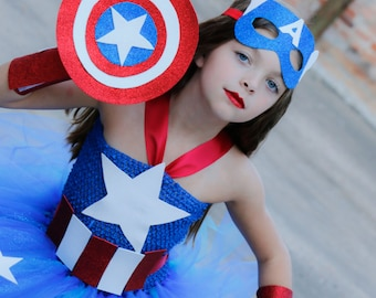 Deluxe Girls Captain America Costume -Captain America- Superhero costume- Girls superhero- Superhero Birthday - 1st Birthday size 0-4t  sc 1 st  Etsy & Girls Wonder Woman Costume Wonder Woman Superhero costume