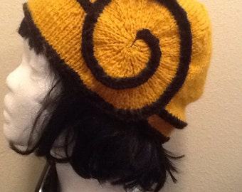 Black and Yellow Swirl Hat