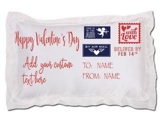 Personalized Valentine's Day pillow, Valentine's Day pillowcase, custom pillowcase, personalized pillowcase, Valentine's Day gift