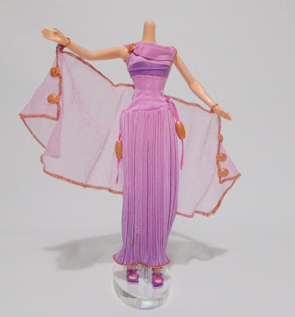 Disney Megara muñeca vestido moda Hércules púrpura falda
