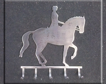 Dressage Horse in Piaffe Metal Art With or Without Hooks