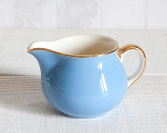 Lovely little blue creamer Villeroy & Boch || Porcelain Milk Jug from - Blue and gold porcelain - Shabby Chic