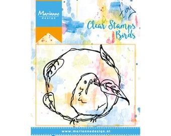 Stamp clear Marianne Design, Birds, bird, mixed media, Scrapbooking, Cardmaking, crafting