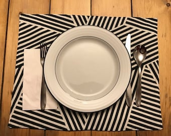 Modern & Fun Black and White Placemats