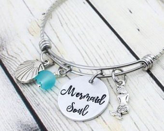 Mermaid Jewelry for Women - Mermaid Soul Jewelry - Mermaid Bracelet for Girls - Beach Jewelry - Gift for Beach Girl - Girlfriend Gift Ideas