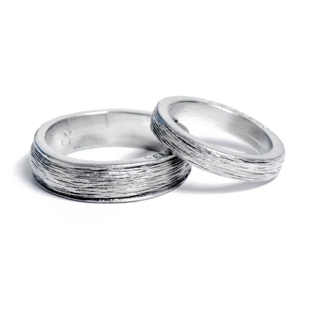 Him and Hers 100 Pure Tin Rings Inscribed with Ten