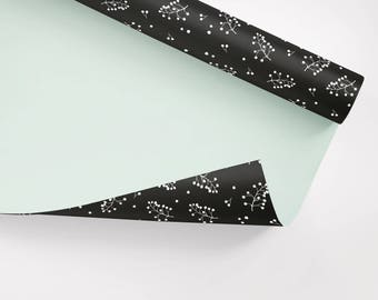 5x Wrapping Paper / Zweige No. 2