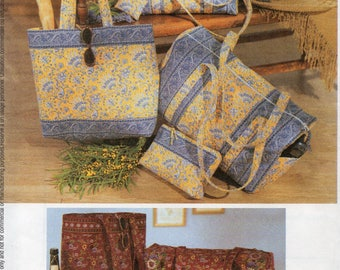 McCall's Fashion Accessories Pattern 3693 DUFFEL BAGS TOTE & More