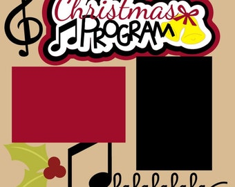 Scrapbook Page Kit Christmas Program/Church/School/Community Premade Scrapbook Pages 2-page 12X12 Scrapbook Page Kit or Premade Layout