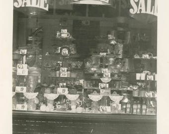 vintage photo 1939 Store Front Window 9 and 19 SALE 5 and Dime Boise Idaho