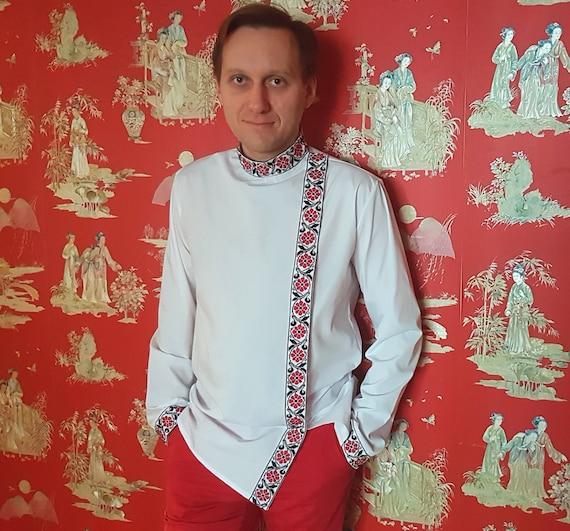 Personal order to Marco / Ukrainian clothes / Ukrainian embroidery for men / Mens embroidered shirt/ Jim Morrison shirt/ Ukrainian gift Cvqw4O