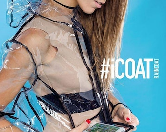 Raincoat for women/ transparent raincoat/ pvc raincoat