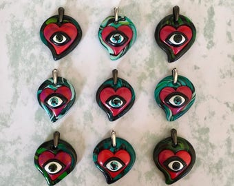 Valentine's Day Gift | Luckenbooth | Witches Charm Pendant | Evil Eye Relationship Protection | Made in Melbourne | Australian Seller