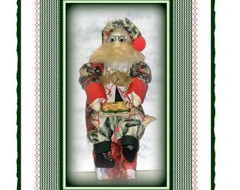 Presents For You Santa, Victorian Santa Claus Doll Decoration E-Pattern