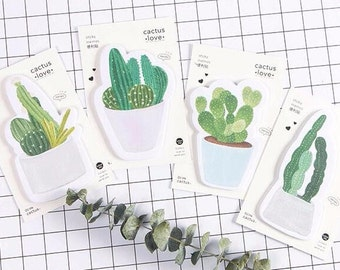 Cactus Post It Sticky Notes Succulent Memo