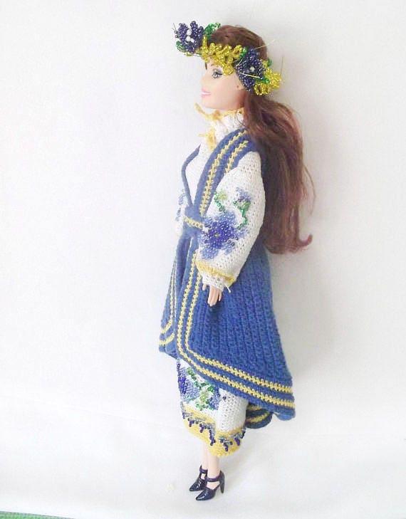 Barbie Kleidung ukrainischen Geschenke Puppe SAMMLERPUPPE