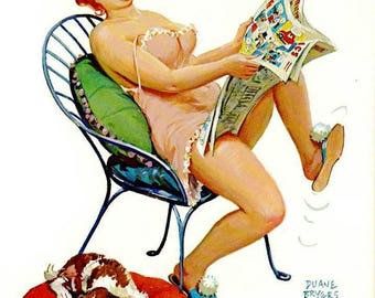 Vintage Hilda Plus Size Girl 1950's  Reproduction Print #21