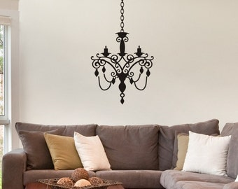 Wall Decal   Chandelier Style 6 Nice Living Room Wall Decor