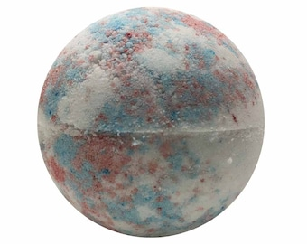 Cotton Candy Bath Bomb, Bath Fizzy, Handmade Spa Product, Epsom Salts, Hydrating Coconut Oil, Sensitive Skin, Great Gift for Her