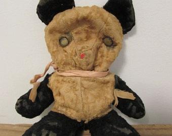 SALE! - Was 82.00 - Panda Bear, Gund, 1940's, Metal Eyes, Well Loved