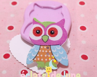 OWL 35/27 mm button silicone mold