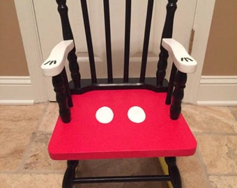 Mickey Mouse Rocking Chair   Mickey Mouse Kids   Disney Chair   Mickey Mouse  Furniture   Mickey Mouse Nursery   Mickey Mouse Gift