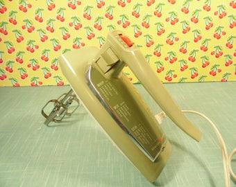 Vintage General  Electric Avocado Green Hand Mixer