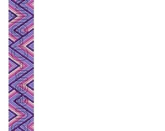 Peyote Cuff Tutorial - Pink & Purple Geometric