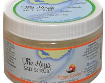 Mango Coconut Salt Scrub – 12oz, Handmade in the Florida Keys
