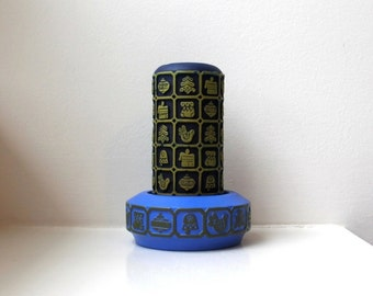 Danish Modern Candle Holder / Music Box Scandinavian Retro Christmas Graphics 60's Japan