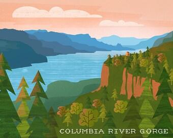 Columbia River Gorge Print