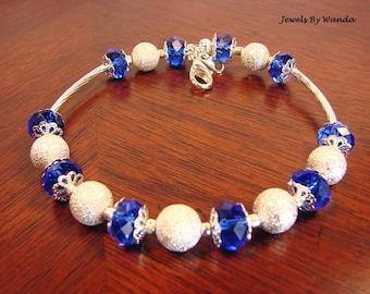 Oceans of Blue Crystal Bracelet