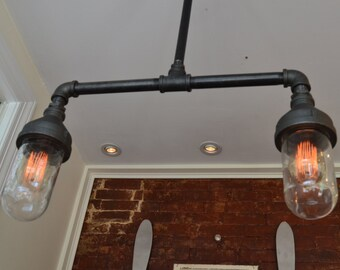 Industrial Lighting - Light fixture - Ceiling Light - Steampunk Light - Ceiling Fixture - Home Light - Kitchen Light - Hanging Light - Light