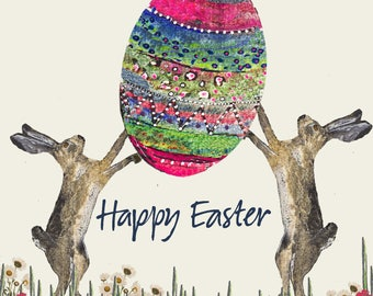 Potato Printed 'Happy Easter' easter greetings card