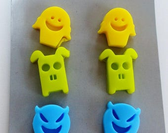 6 silicone glass brand yellow green and blue