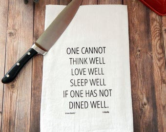 Dine Well Flour Sack Tea Towel