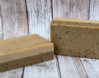 Coffee Soap, Coffee and Cream Soap, Exfoliating Soap, Gift for Coffee Lover, Unisex Soap, Coffee Chocolate Caramel Scent Soap