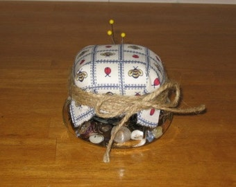 Canning Jar Pincushion Mailed Paper Pattern from Sew Practical, Mom and Pop Craft