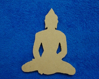 Buddha Cut Out MDF Shape Mosaic Base Unpainted Shape
