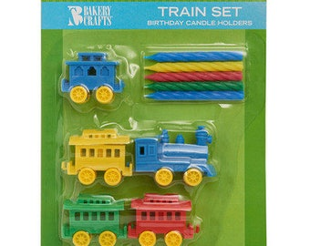 Train Set Candle Holders & Candles