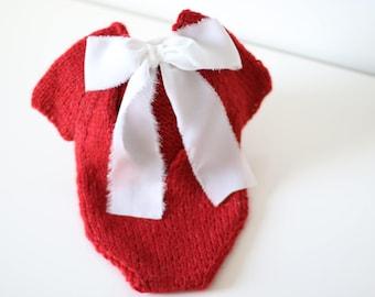 Newborn valentine - Newborn romper - Baby girl props - Photo props - Newborn girl - Baby photo prop - Newborn baby photo - Red- Baby girl